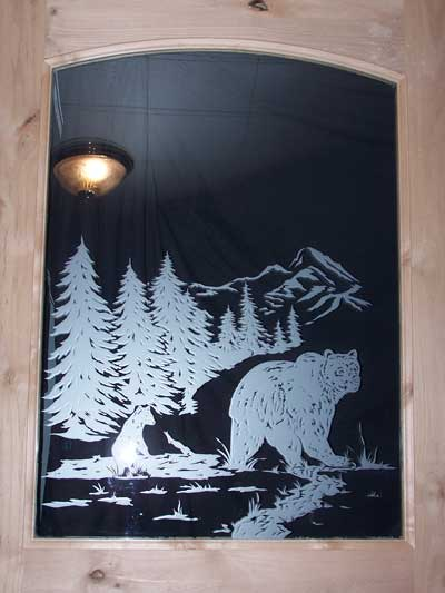Etched Glass Doors from Premier Doors  Millworks