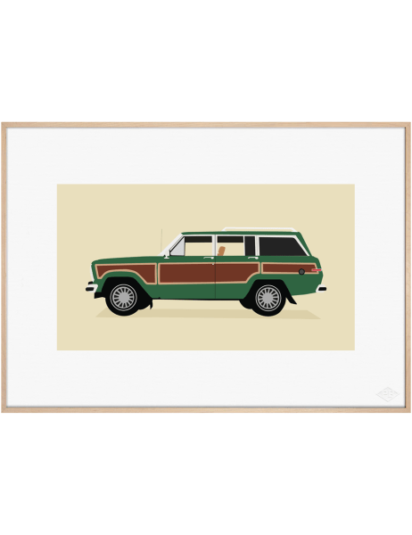 Jeep Grand Wagoneer, Green Edition art print. Premiere Base