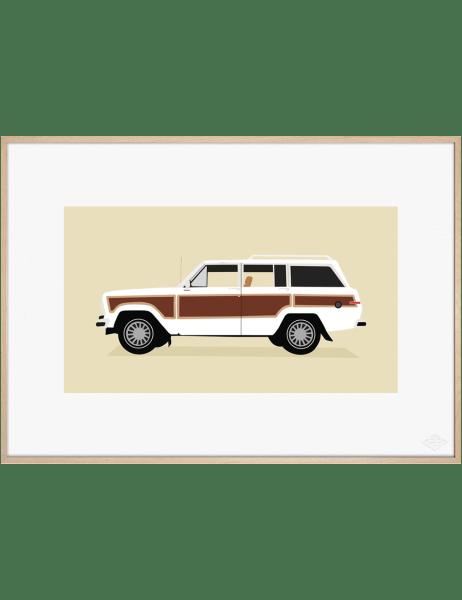 Jeep Grand Wagoneer, White Edition art print. Premiere Base