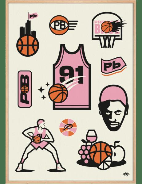 PB Basket-Ball art print. Premiere Base