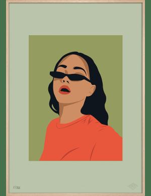 Louise art print. Premiere Base