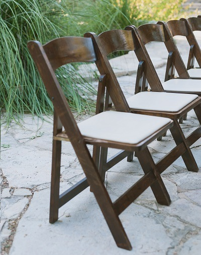 Fruitwood Folding Chair  Premiere Events