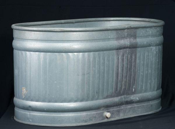 Large Galvanized Trough Tub