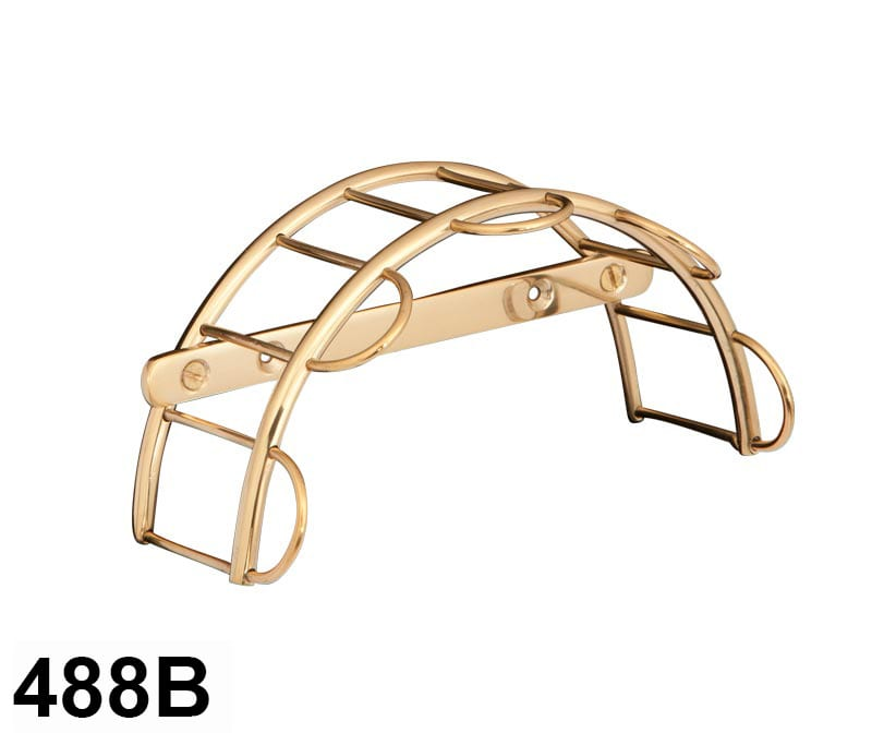 tack harness rack brass
