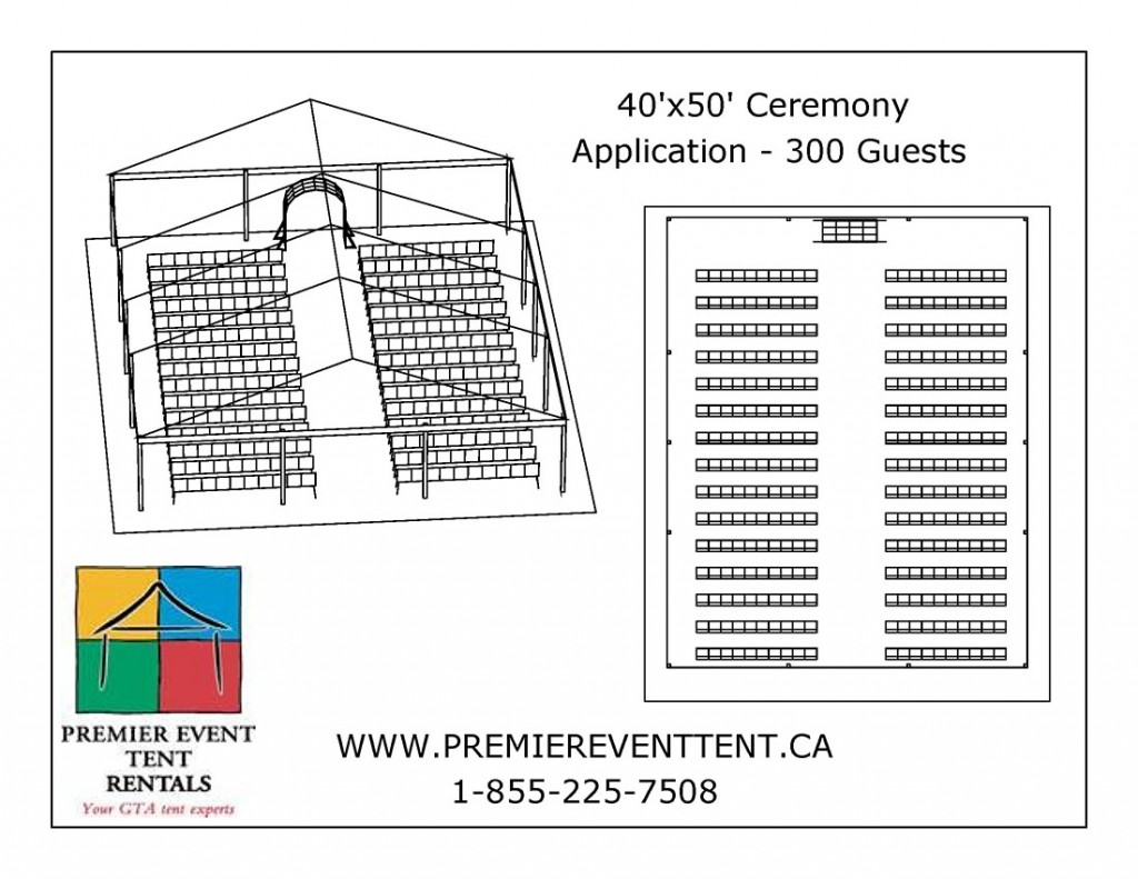 hight resolution of party tent diagram