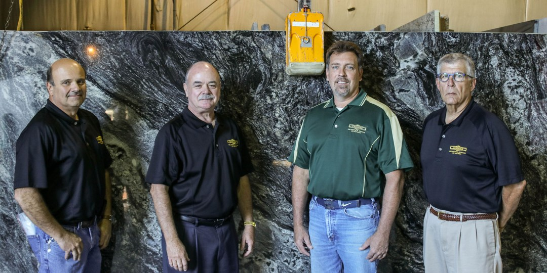 From left: Premier Granite & Stone founders Carmine Trenga, George Koch, Mike Piskurich, and Peter Cicero.