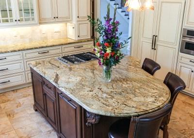 Golden Crystal Granite Kitchen Countertops