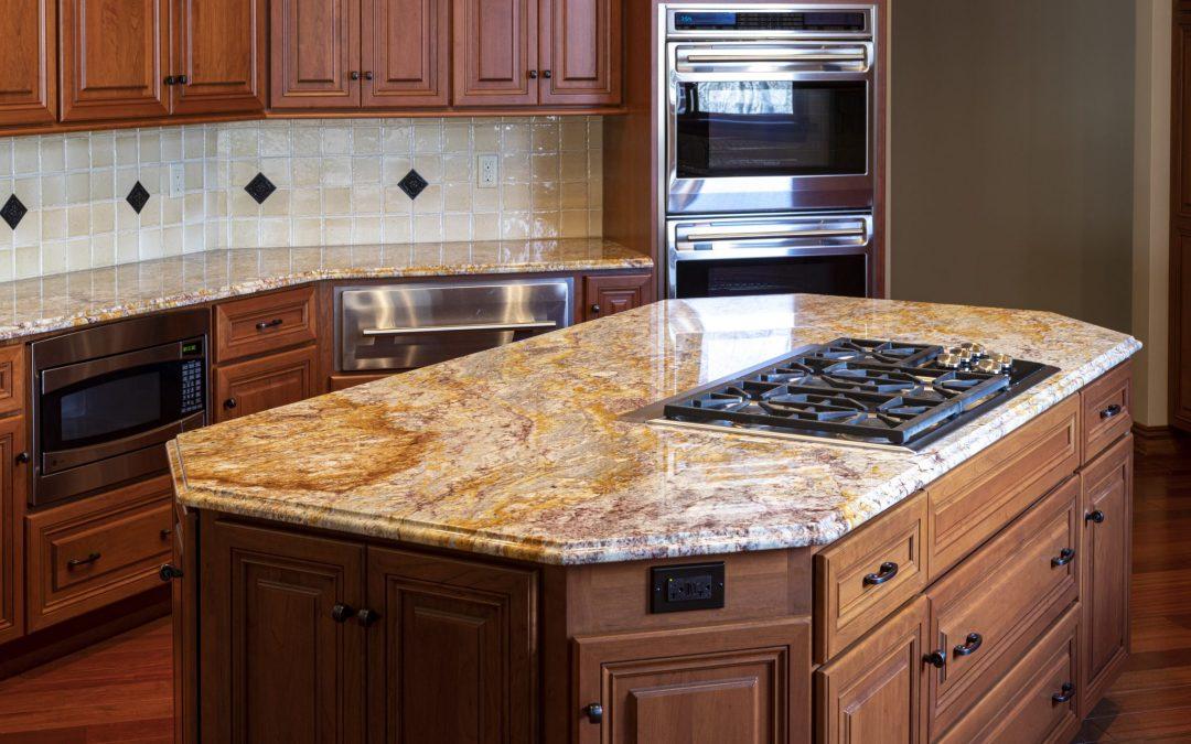 Sienna Bordeaux Granite Kitchen Countertops
