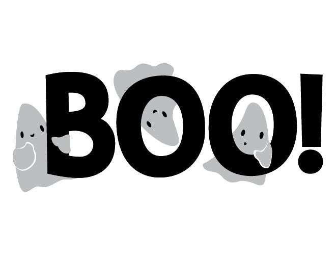Halloween Boo Black And White