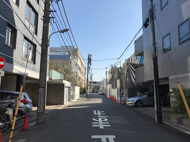 北側の通り