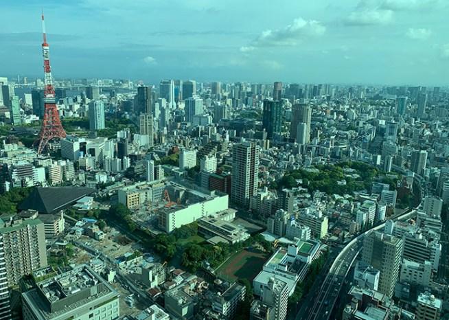 東京都心の町並み