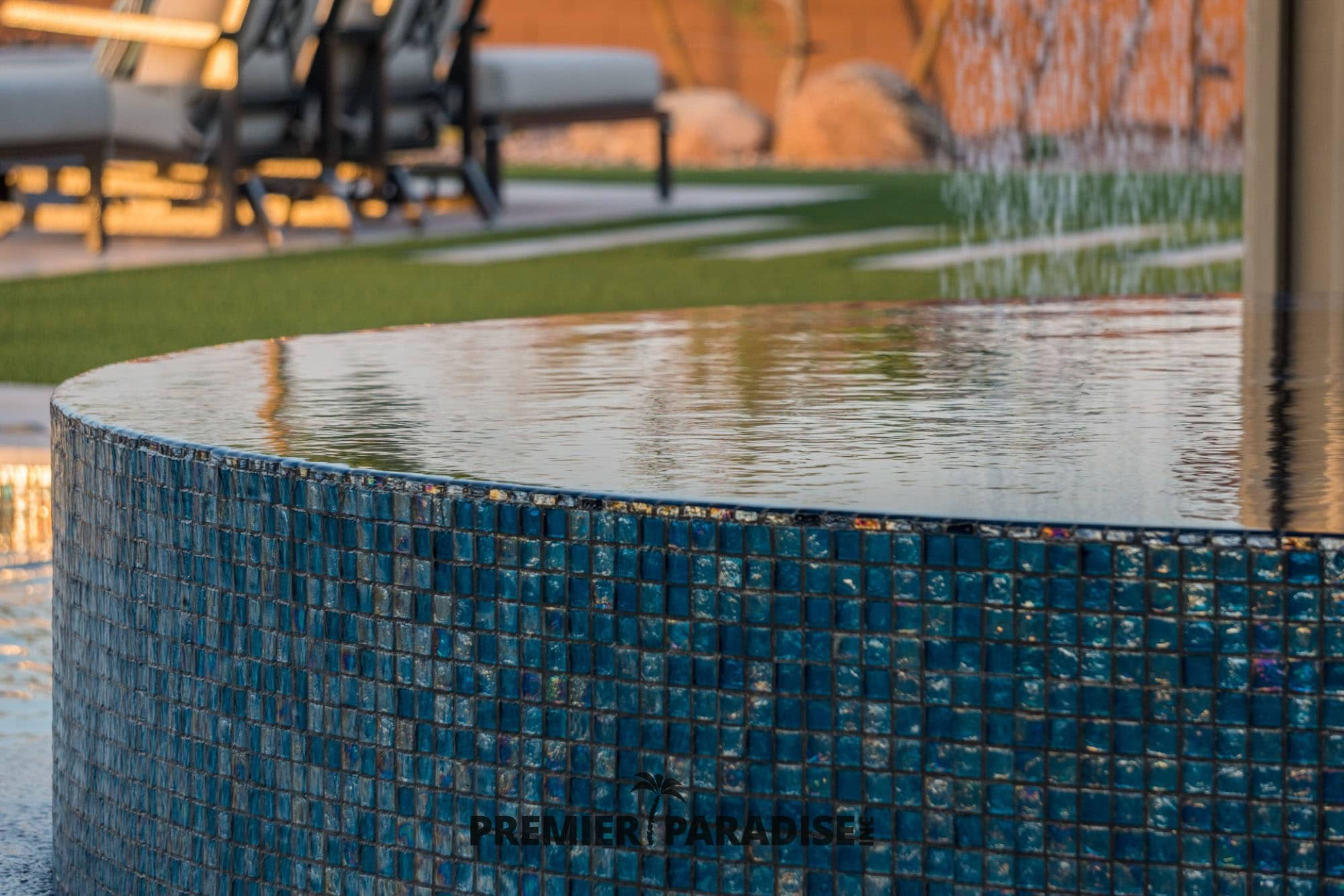 pool builder phoenix custom glass tile spa hot tub design gallery premier paradise inc 5 premier paradise inc