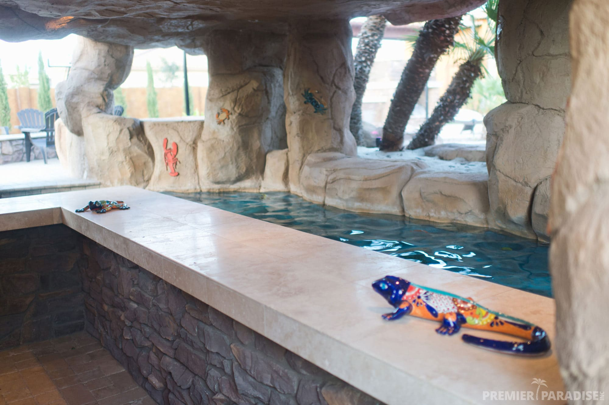 Freeform Custom Pool with Grotto Cave in Gilbert Arizona