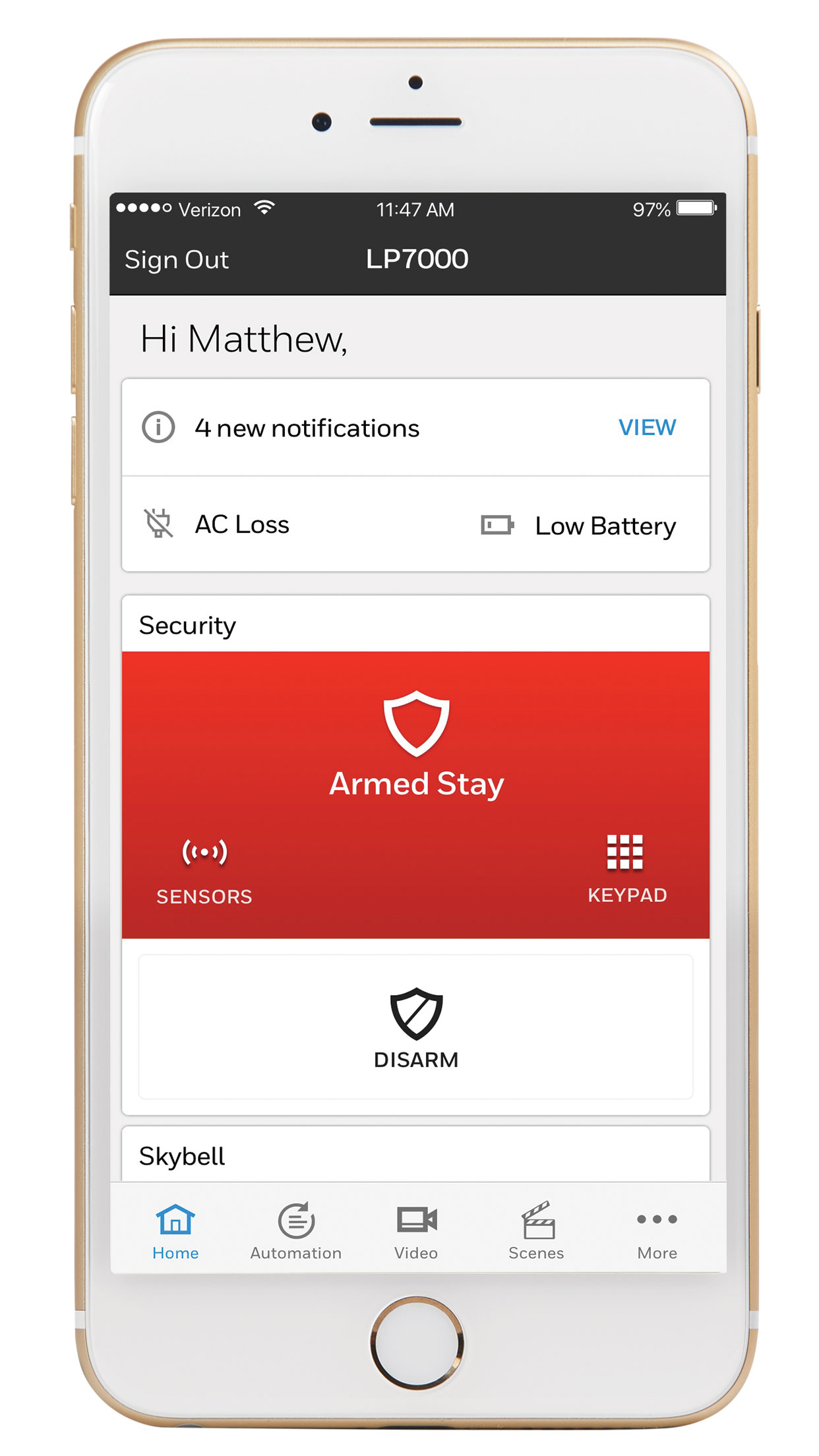 wireless alarm monitoring with Honeywell Total Connect by Resideo