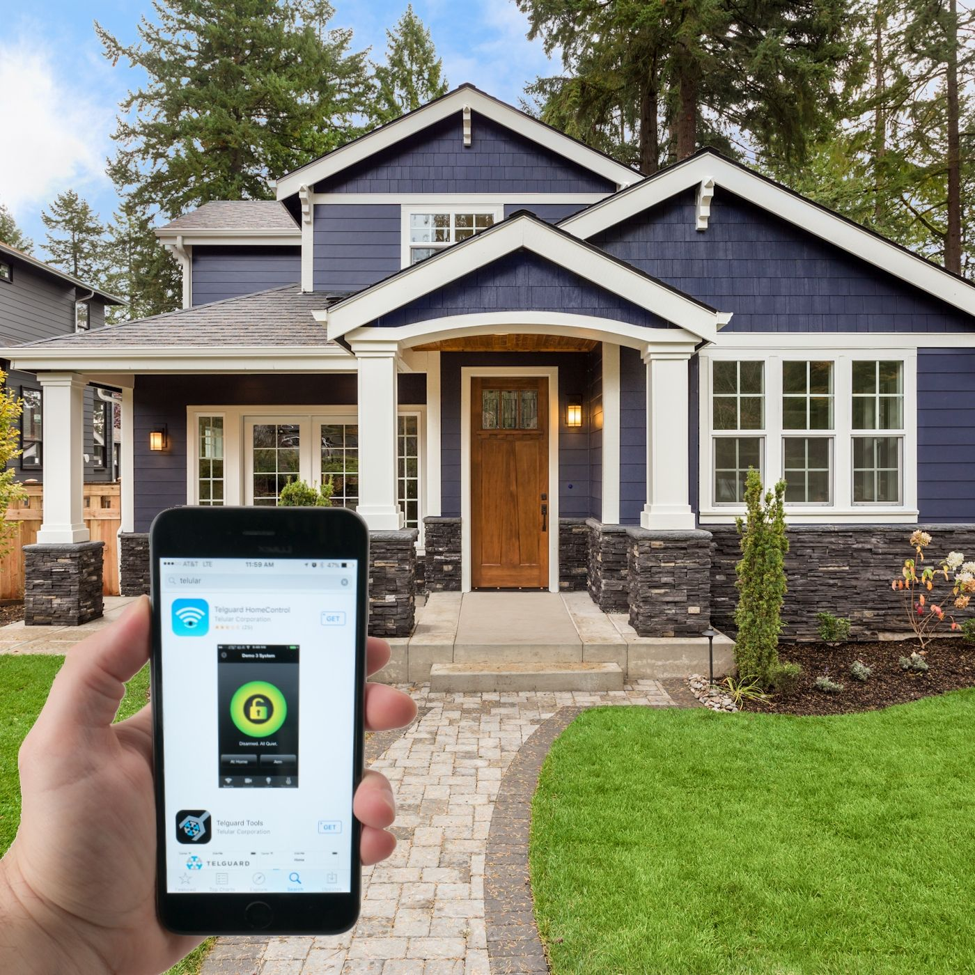 wireless alarm monitoring with homecontrol flex by Premier Security