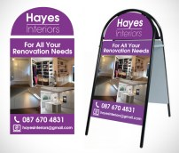 Hayes Pavement Sign