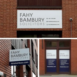 Fascia Sign, Projecting Sign and Window Graphics