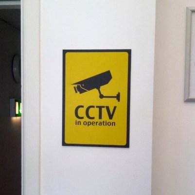 CCTV DiBond Sign