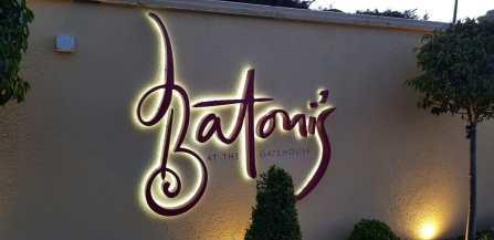 Batonis Restaurant illuminated Signage