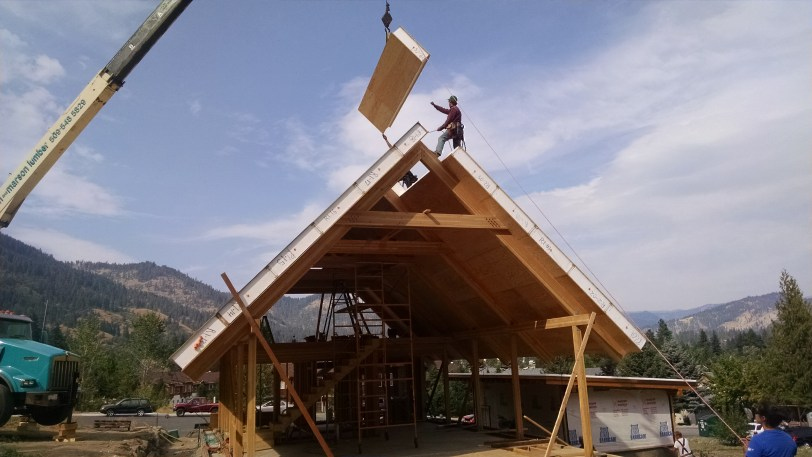 SIP Roof Installation.  Photo Courtesy of Syndicate Smith LLC