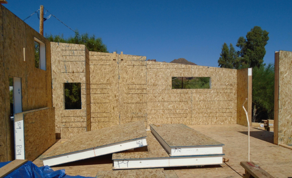 Sips provide fast construction during hot phoenix summer for Sip house construction