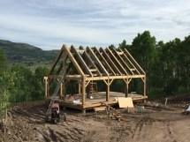 Timber Frame Cabin In Mountains Premier Sips
