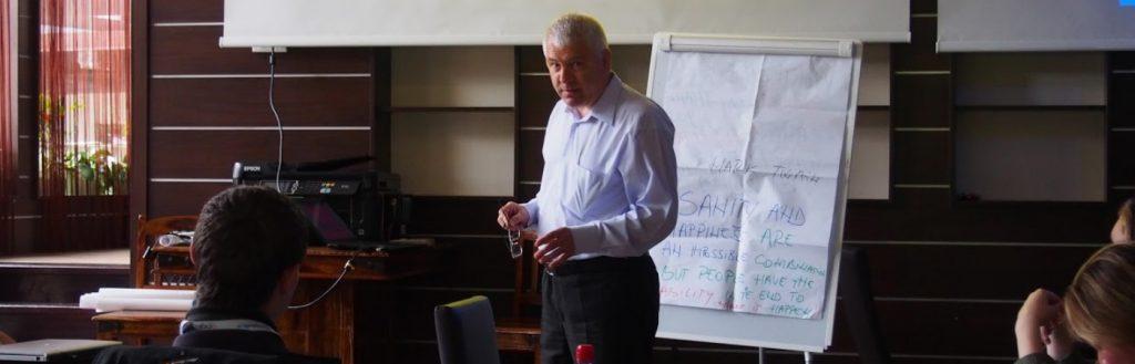 Man doing presentation