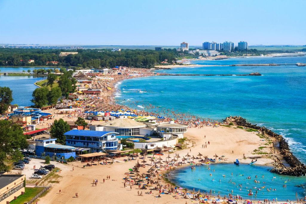 A busy beach resort in Romania.
