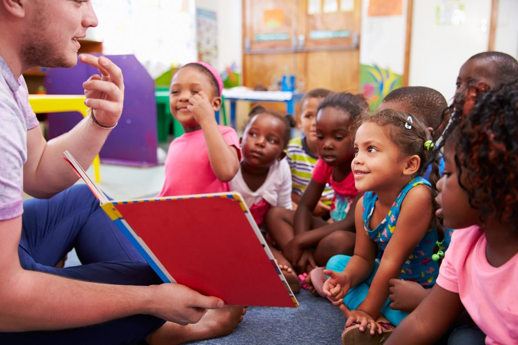 teaching a class of young learners abroad