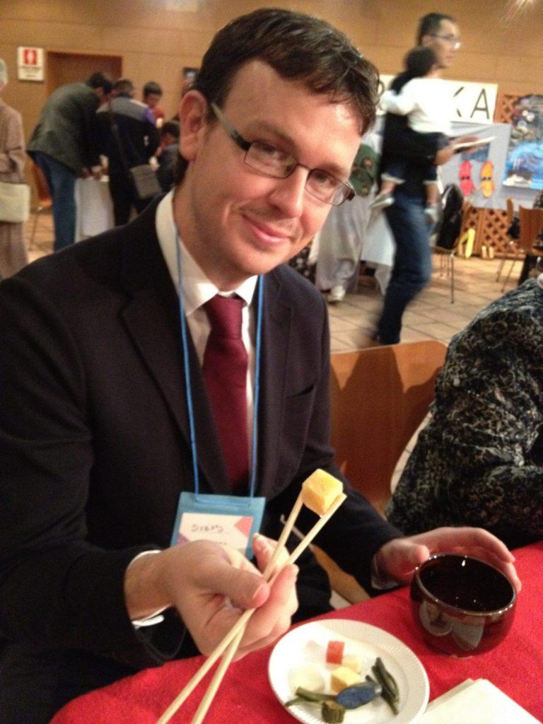 Sheldon, our TEFL teacher in Japan loves local cuisine
