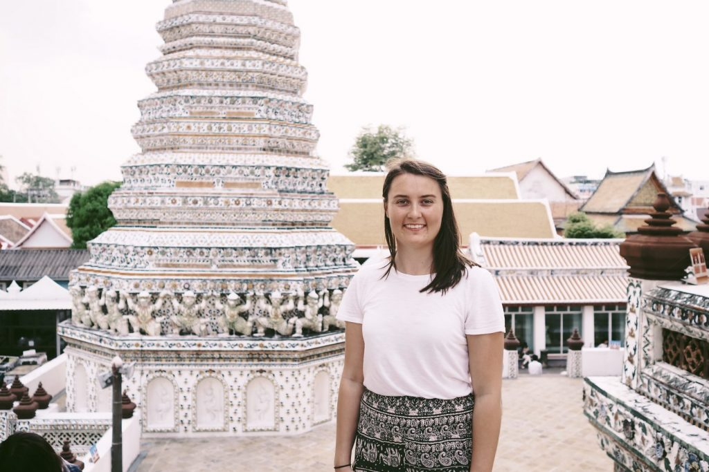 Sarah seeing the tourists in Thailand