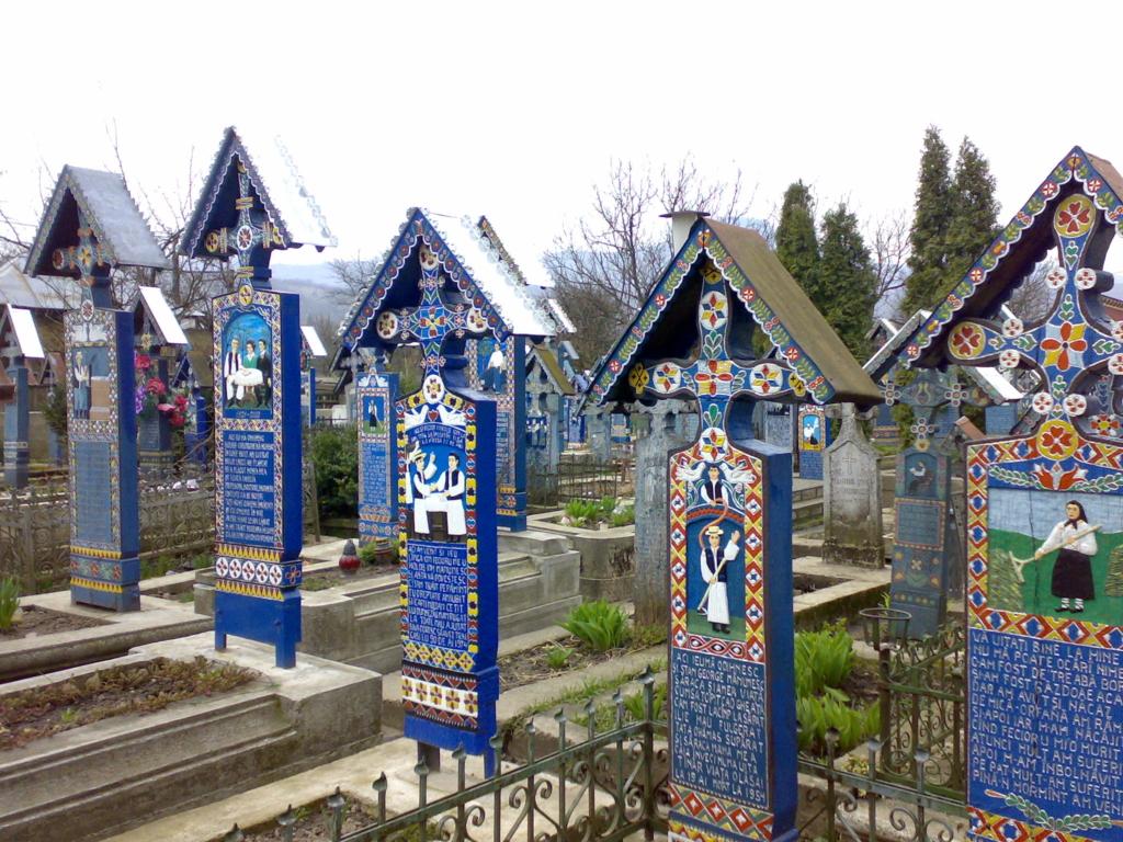 Very unique and artistic gravestones in Romania