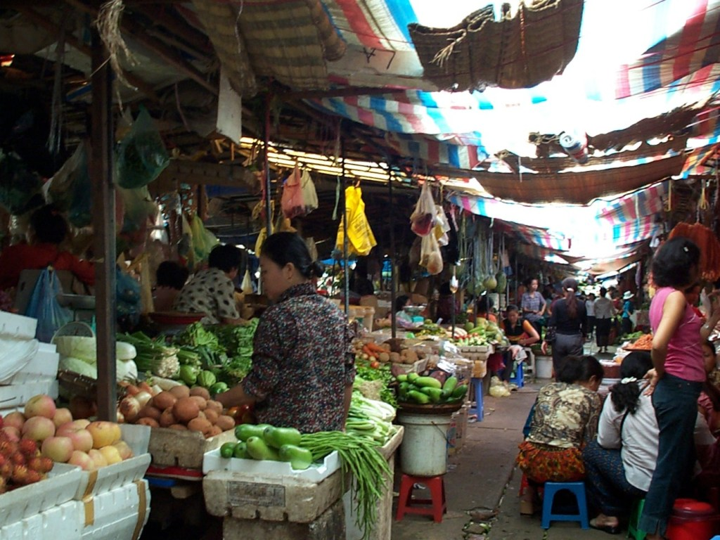 Market in Cambodia 1024x768 - Meet Our Awesome Aussie - TEFL Interview With Nathaniel Killick