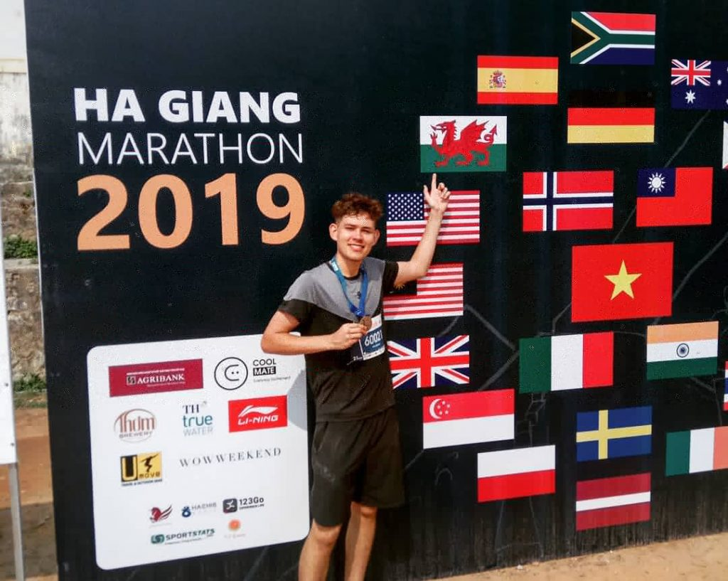 Will after completing the Ha Giang marathon