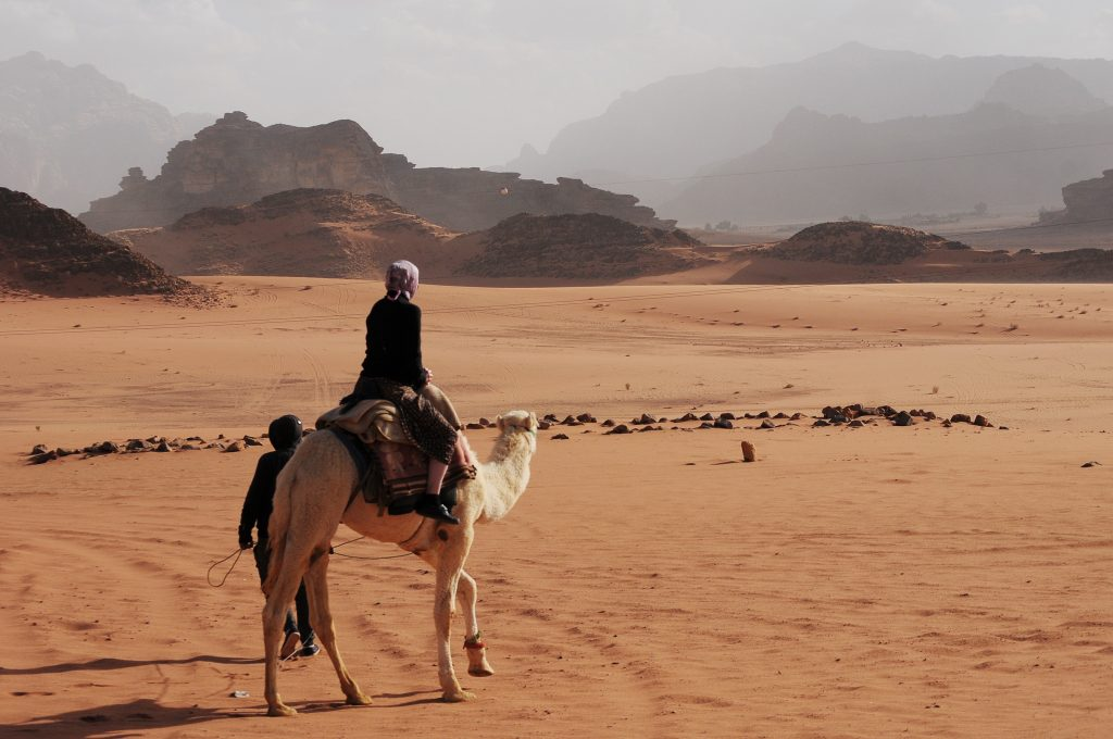 Lorie on a camel