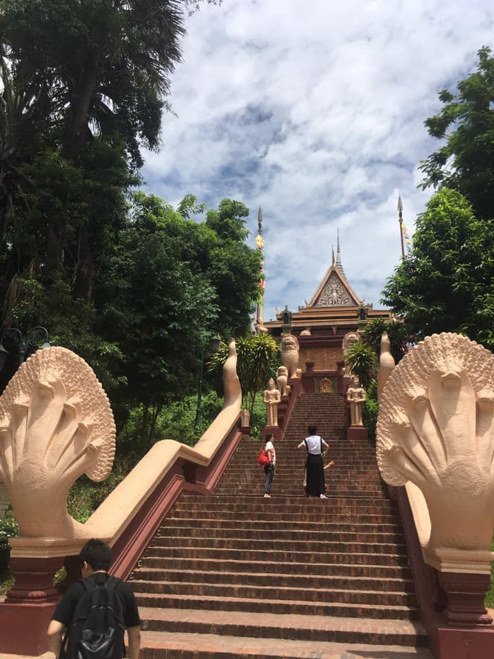 Steps at a temple in Cambodia - Sweden to Cambodia: Meet Anton Hedlund