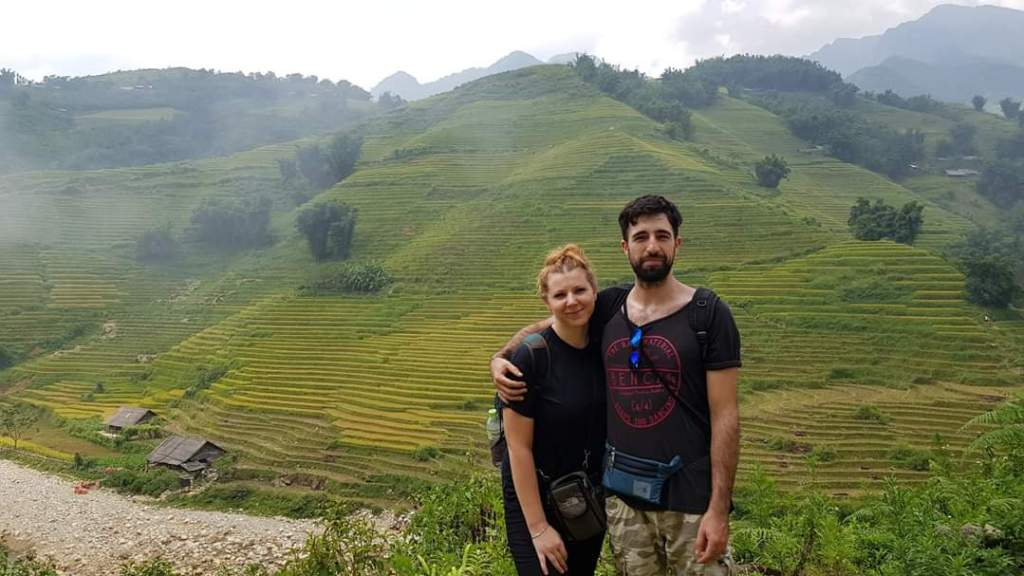 Martha and her partner in Vietnam