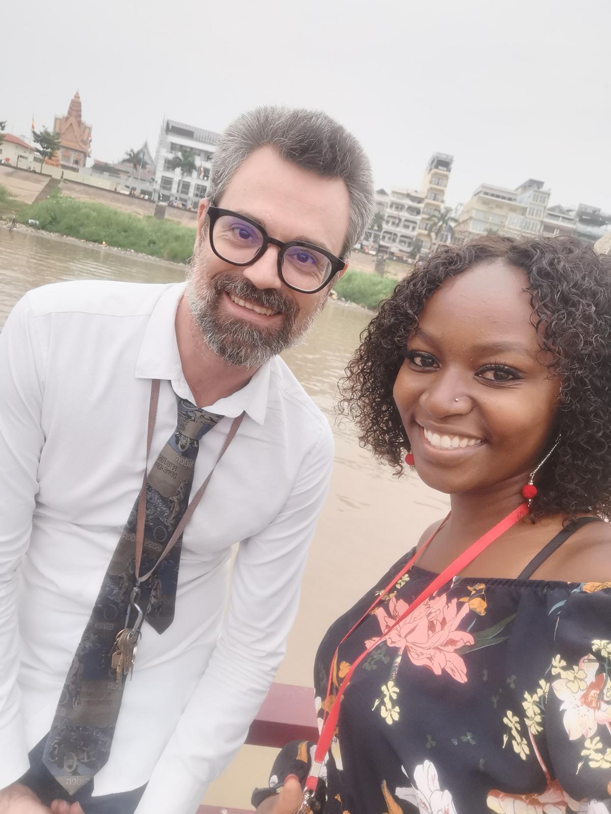 Grace with a fellow teacher