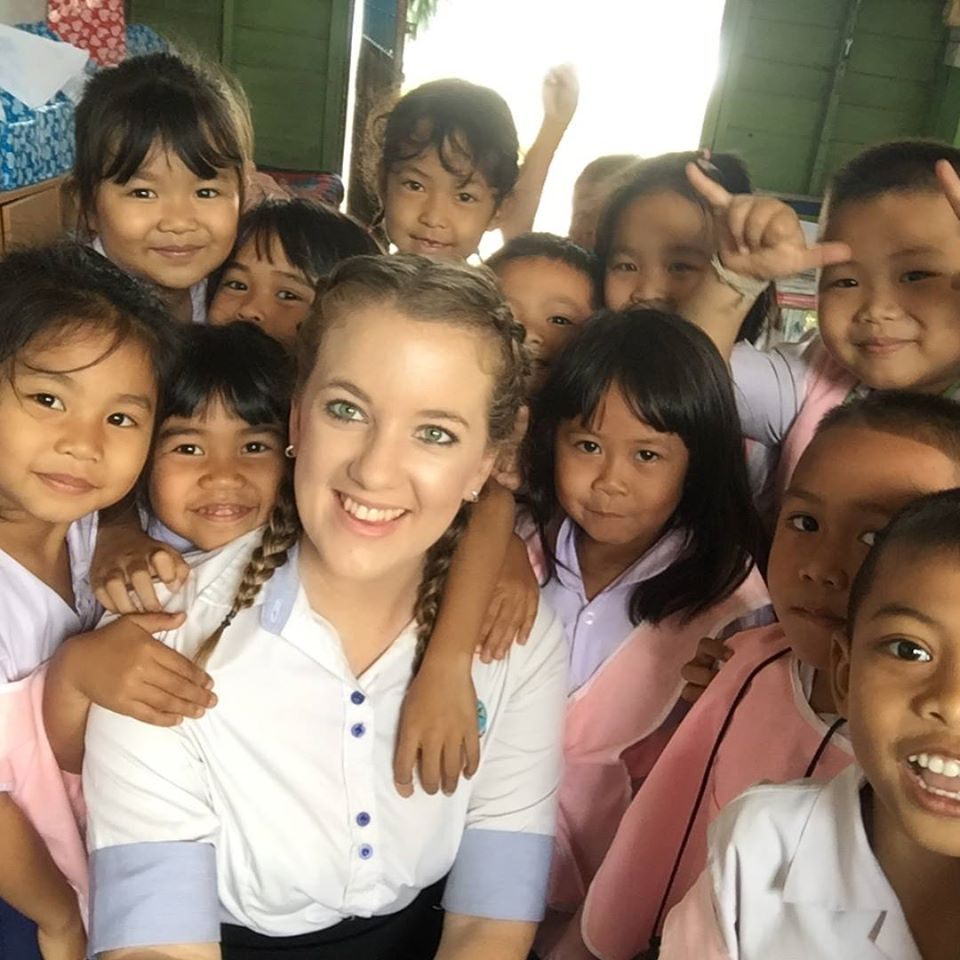melissa with students