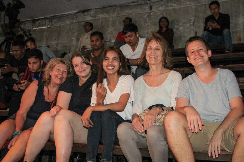 Darcy with friends in Cambodia