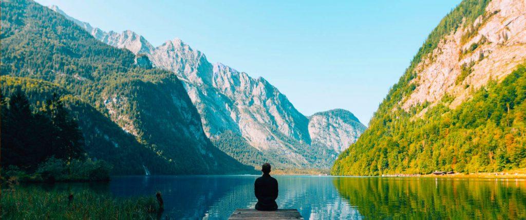 Man admiring the views