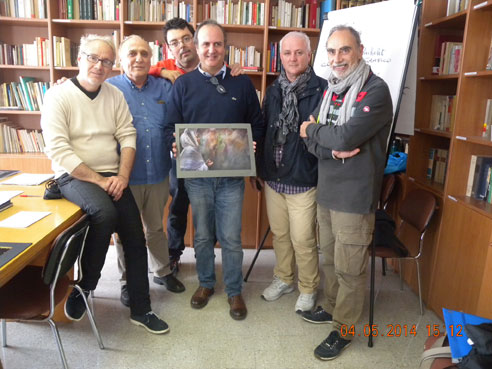 Giuria del Concorso Fotografico Vittorio Bachelet 2014 alla fine dei lavori