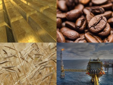 Commodities: gold, coffee, wheat and crude oil