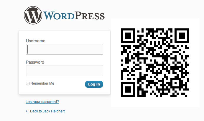 No More Passwords: Log Into WordPress with a QR Code