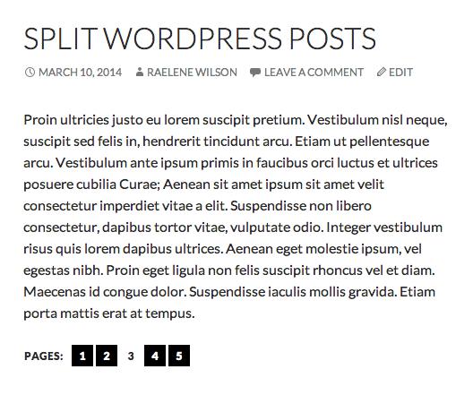 How to Split WordPress Posts