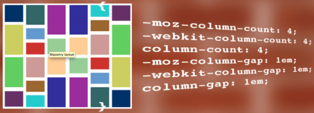 Masonry image next to CSS for column-counts