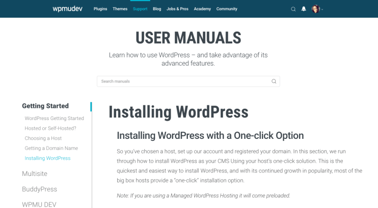 Check out the Manuals section of our site for more help on how to install WordPress.