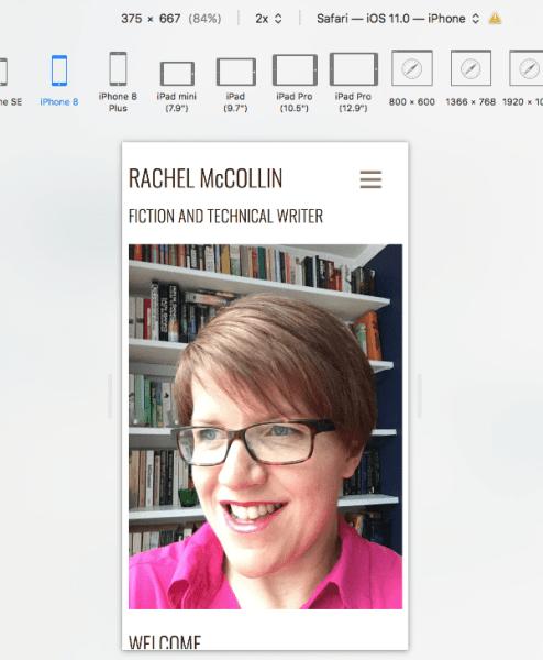Mode de conception adaptative Apple Safari