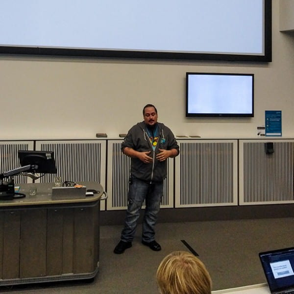 Tim at WordCamp Manchester