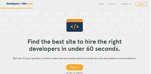 Developers for Hire.